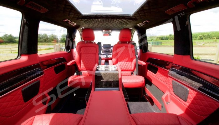 Senzati V Class Jet Class Business Plus Model In Red With 6 Seats Pic 1