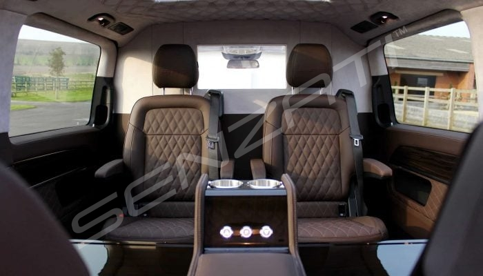 Senzati Luxury VIP V Class Viano People Carrier Espresson & Beige Interior