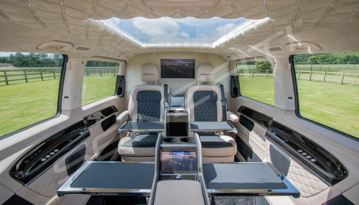 Senzati V Class Jet Class Jet Spec With Twin Consoles Black Cream Interior Pic 1
