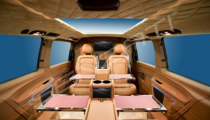 Senzati V Class Jet Class Jet Spec With Twin Consoles Brown Beige Interior Pic 1
